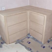 Oak Veneered Drawer Set