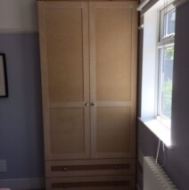 Two Drawer Shaker Wardrobe