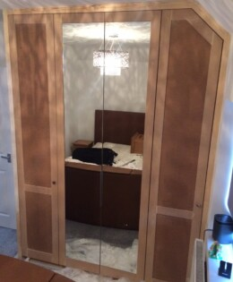 Mirrored Eaves Wardrobe